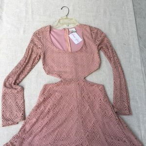 Henri girl crochet cutout mini dress size S